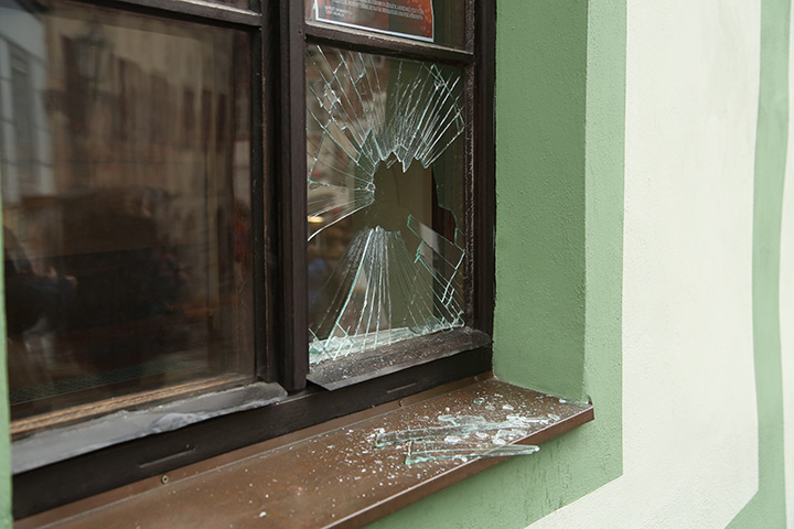 A2B Glass are able to board up broken windows while they are being repaired in Harlesden.